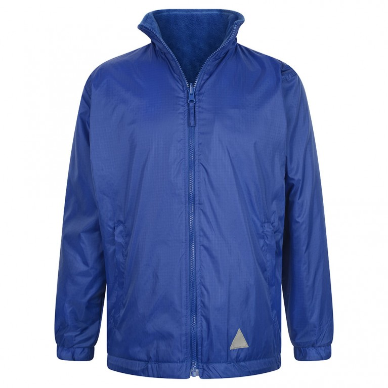 Plain Blue Reversible Showerproof Jacket