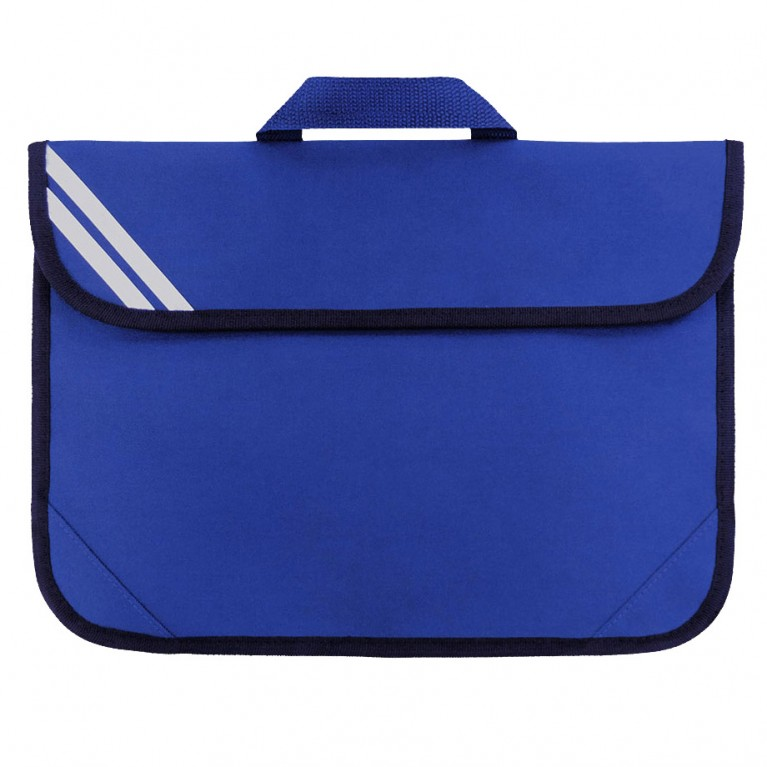 Plain Blue Short Handle Bookbag