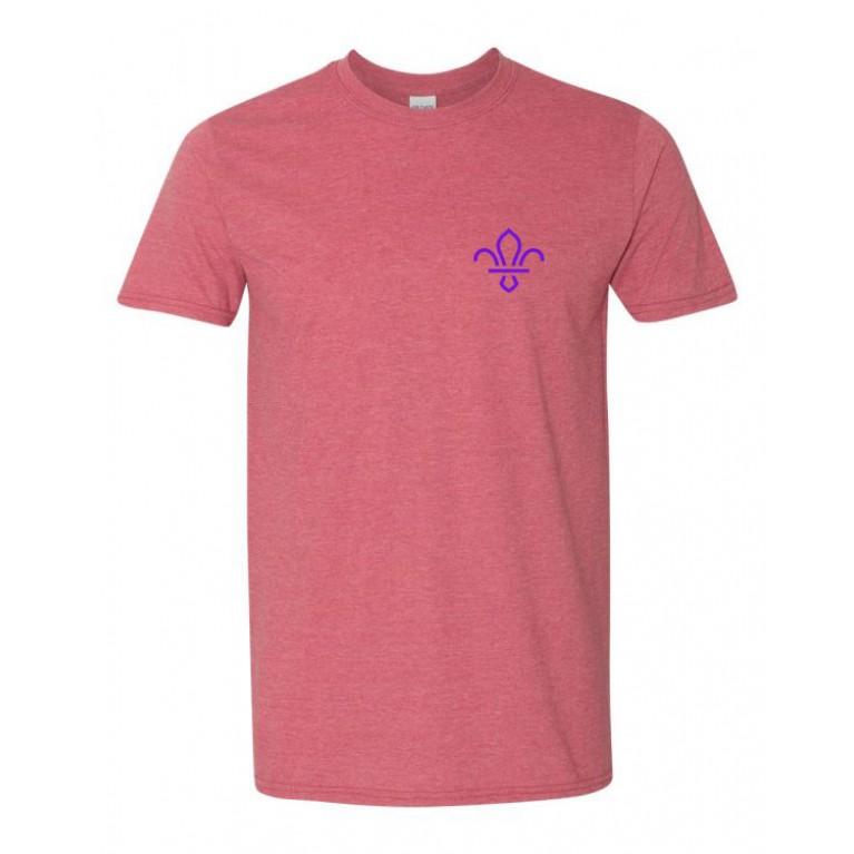 T-Shirt - Heather Cardinal