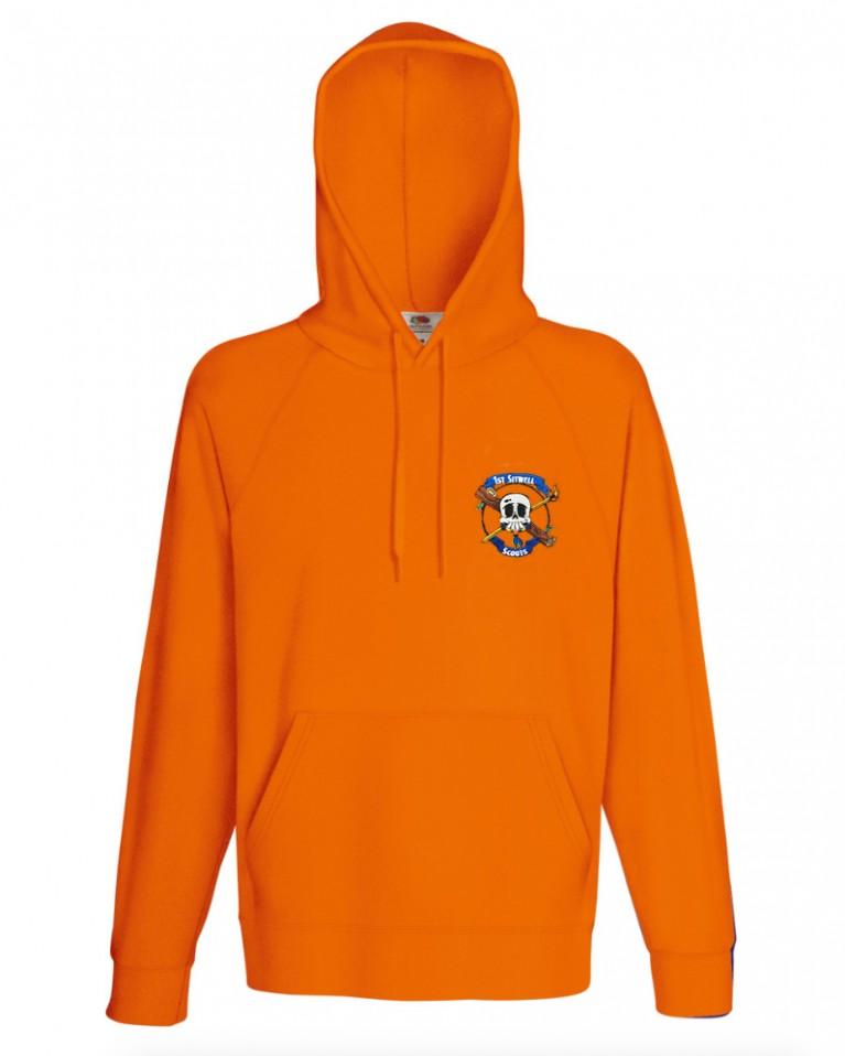 Lightweight Orange Hoodie