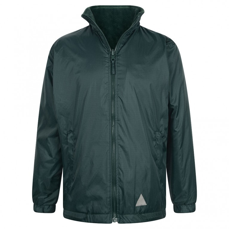 Plain Green Reversible Showerproof Jacket