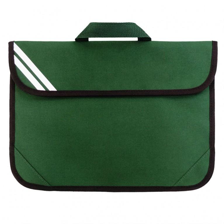 Plain Green Short Handle Bookbag