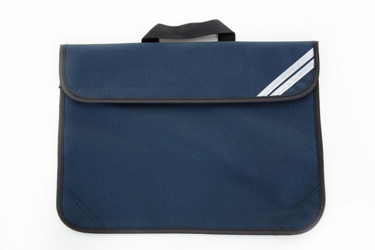 Plain Navy Short Handle Bookbag