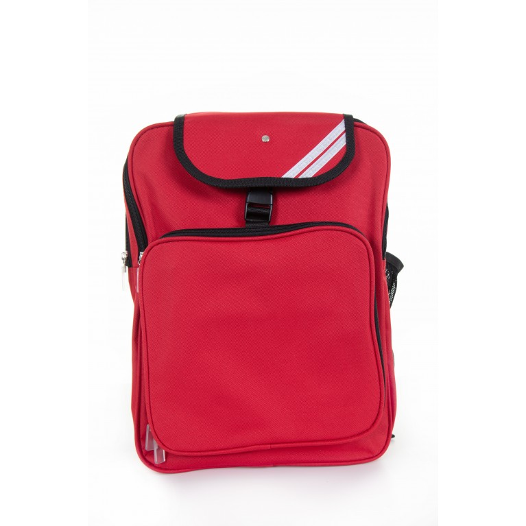 Plain Red Junior Backpack