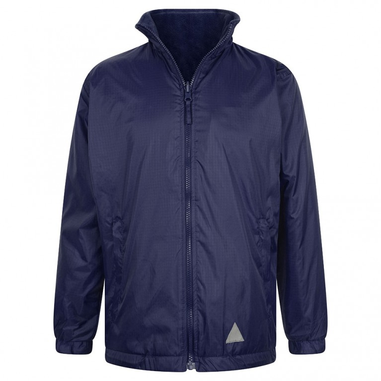 Plain Navy Reversible Showerproof Jacket