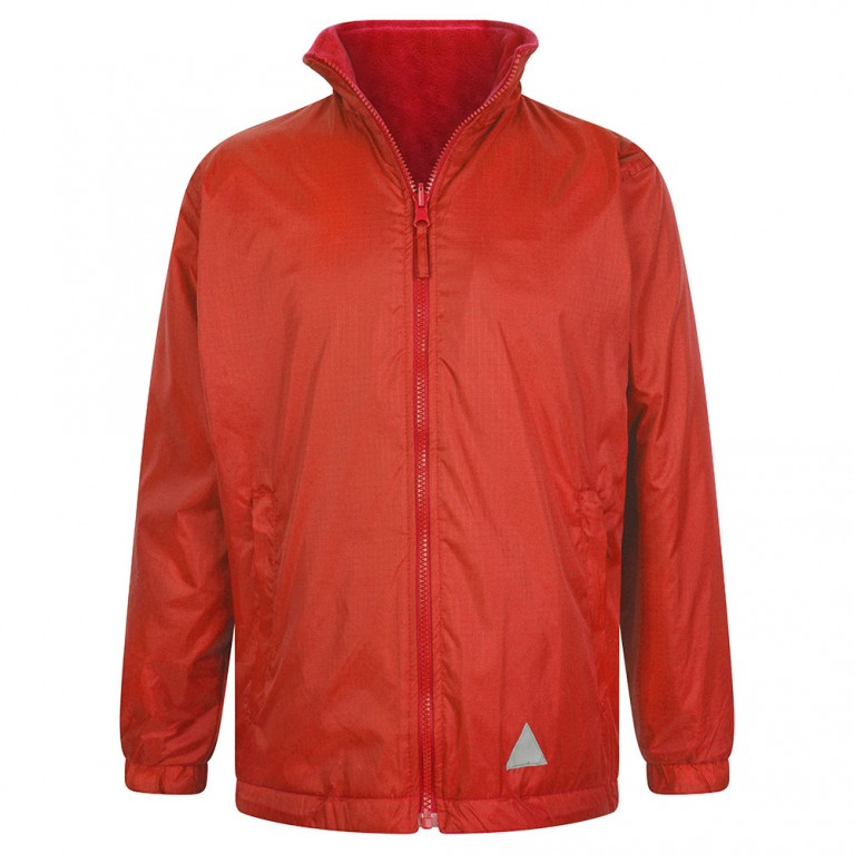 Plain Red Reversible Showerproof Jacket