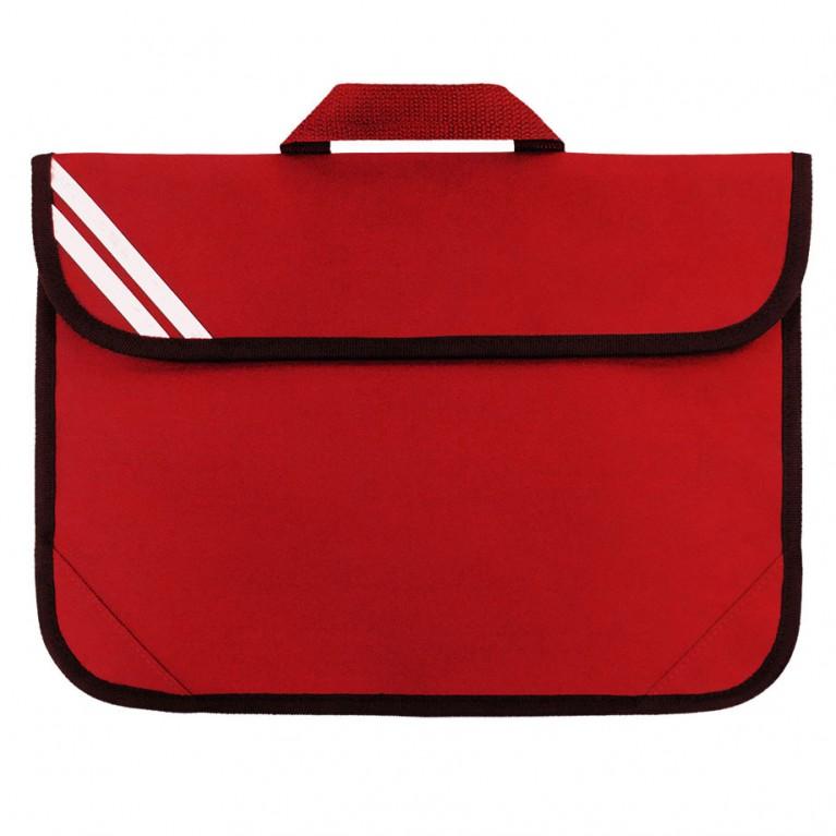 Plain Red Short Handle Bookbag