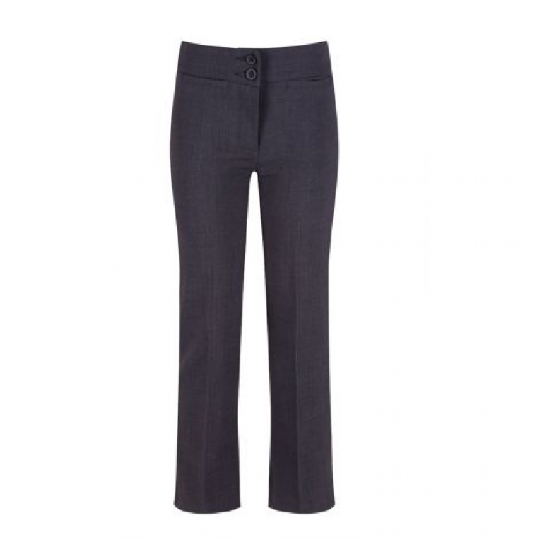 Trutex Junior Girls Twin Pocket Trousers in Grey - with Waist Adjuster