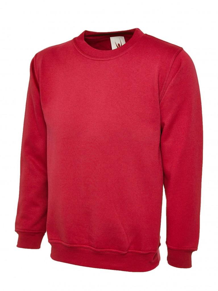 Classic Sweatshirt Embroidered With School Logo