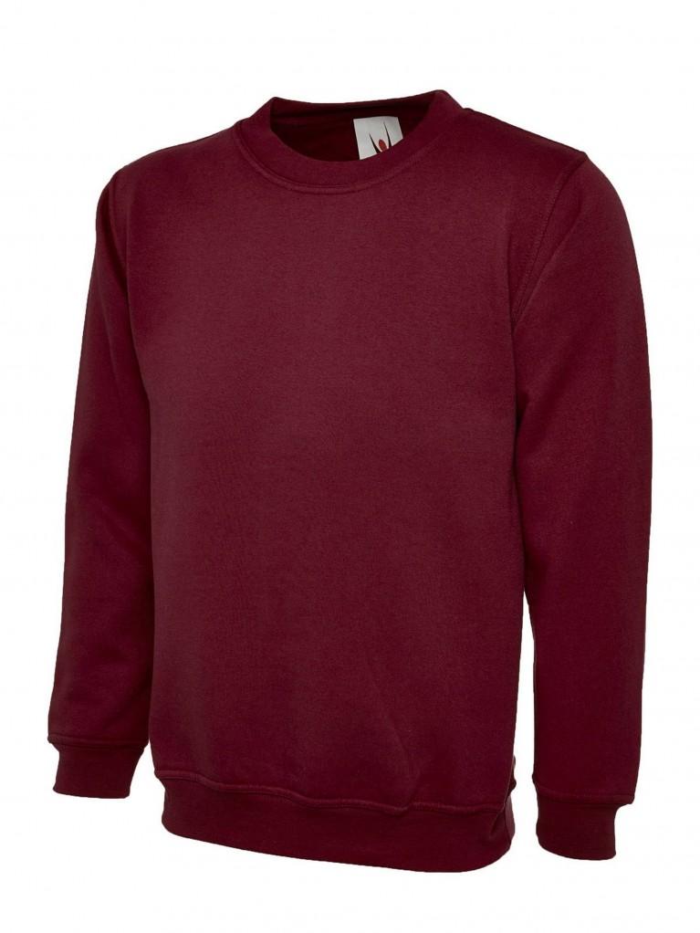 Premium Sweatshirt Embroidered With School Logo