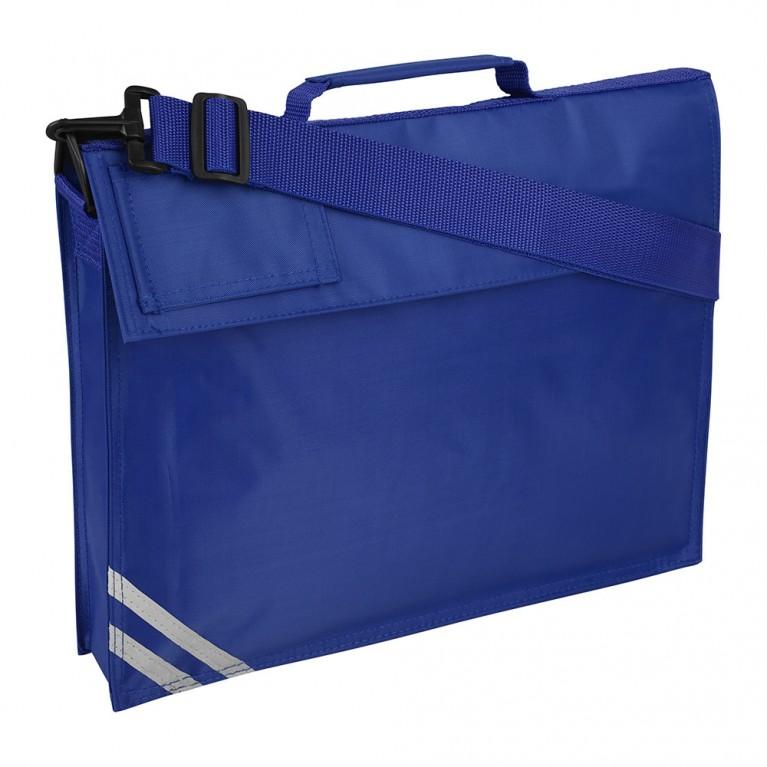 Plain Blue Long Handle Bookbag