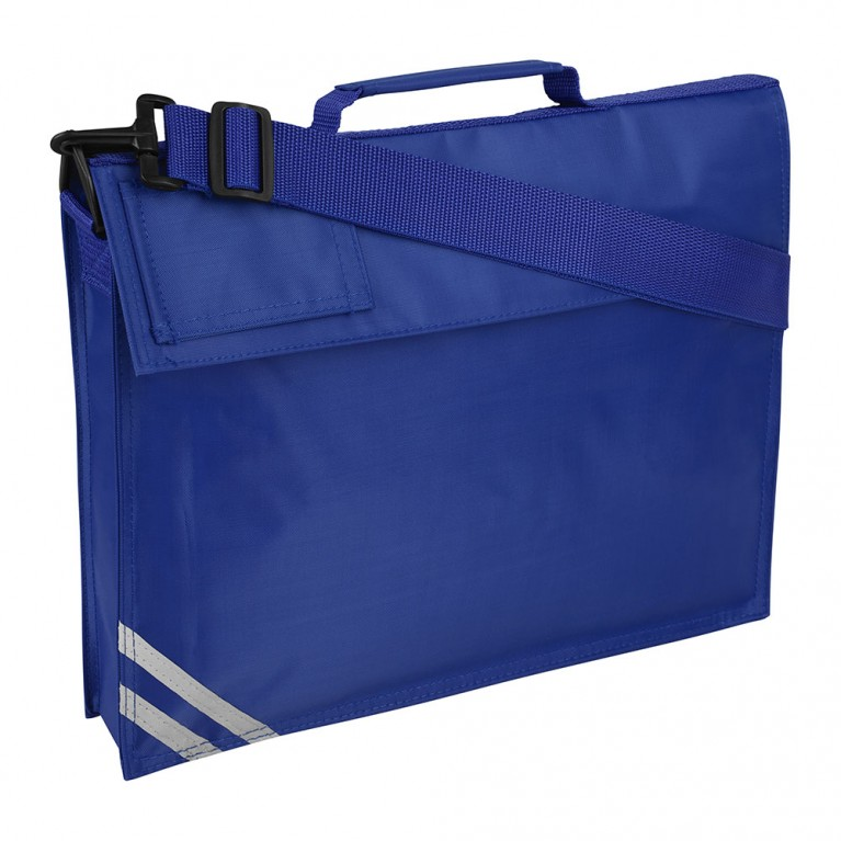 Plain Blue Long Handle Bookbag