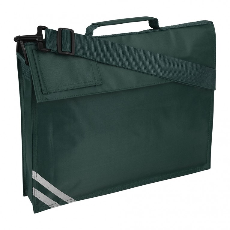 Plain Green Long Handle Bookbag
