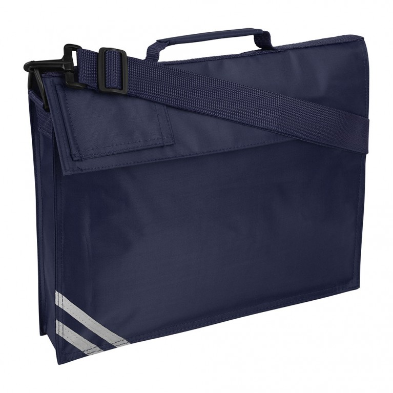 Plain Navy Long Handle Bookbag