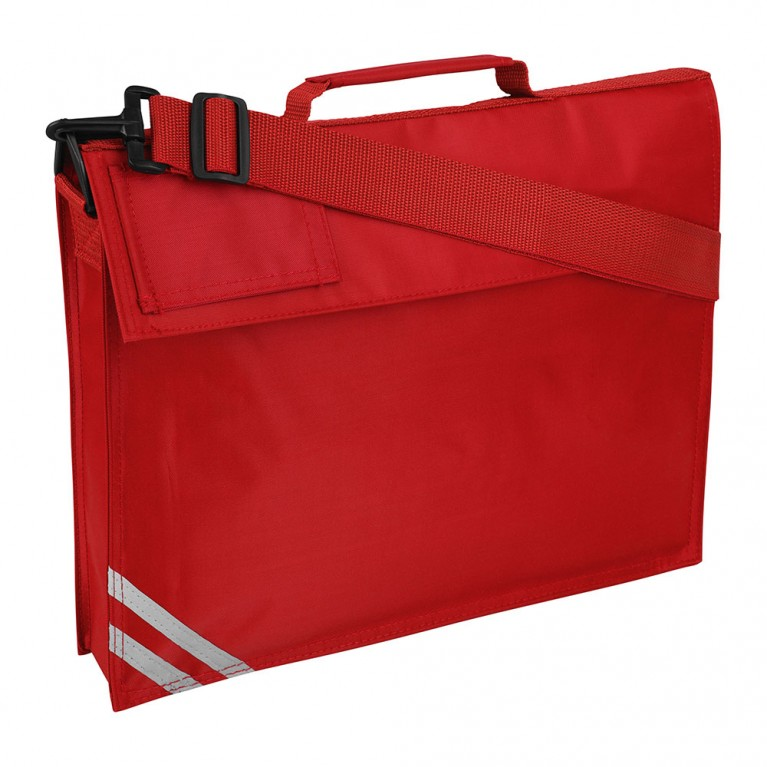 Plain Red Long Handle Bookbag