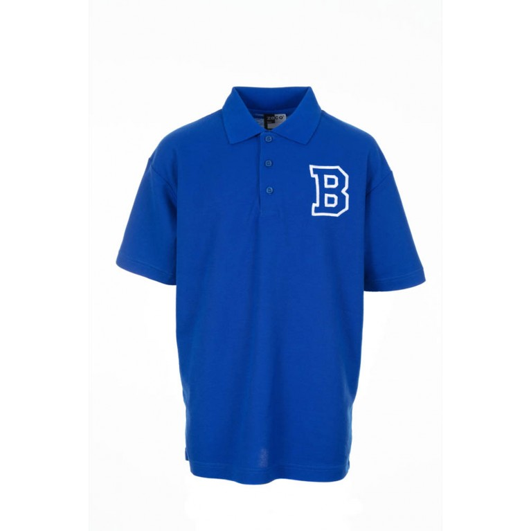 Girls Blue P.E Polo Shirt