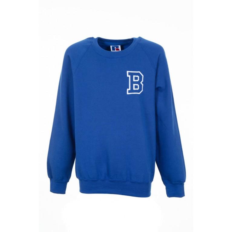 Girls Blue P.E Sweatshirt