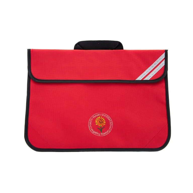 Red Short Handle Bookbag