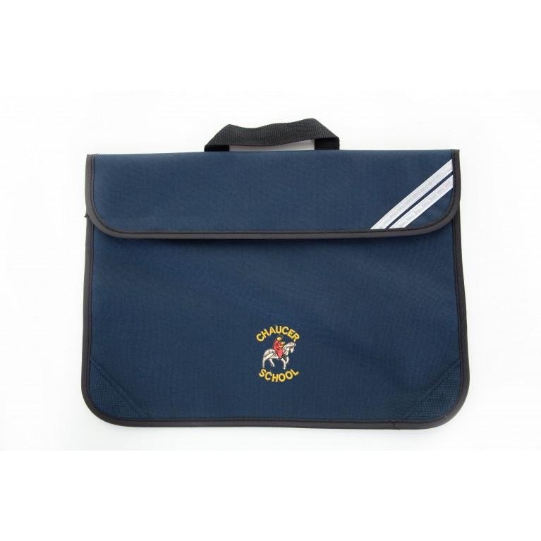 Navy Short Handle Bookbag