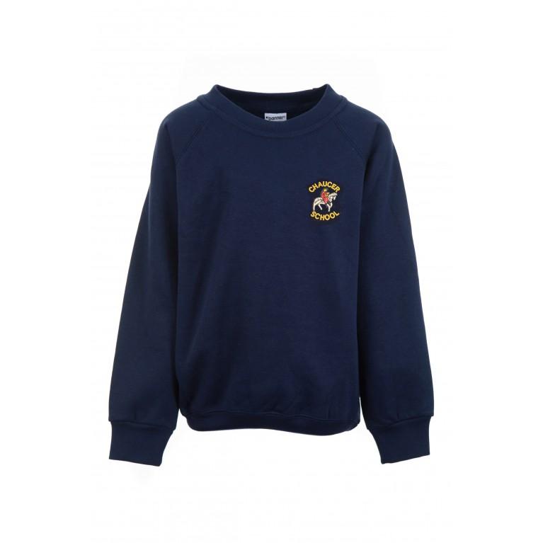 Navy Classic Round Neck Sweatshirt