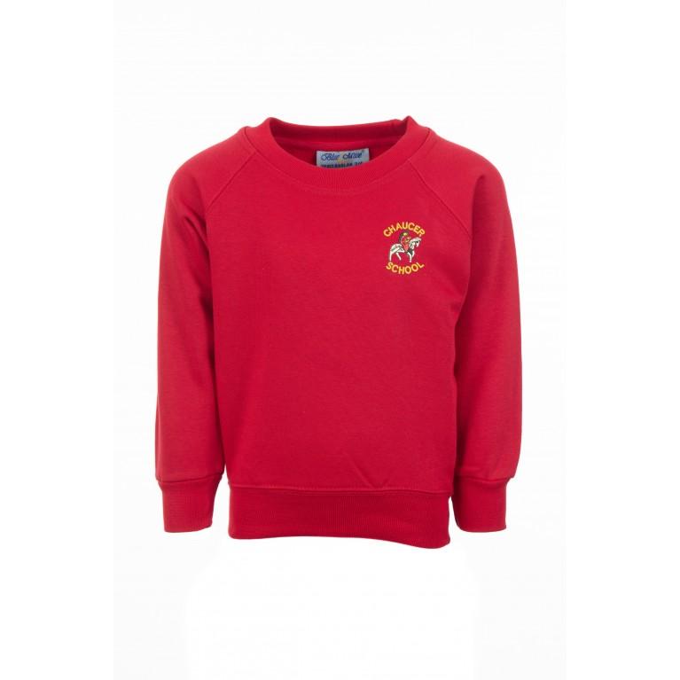 Red Classic Crew Neck Sweatshirt
