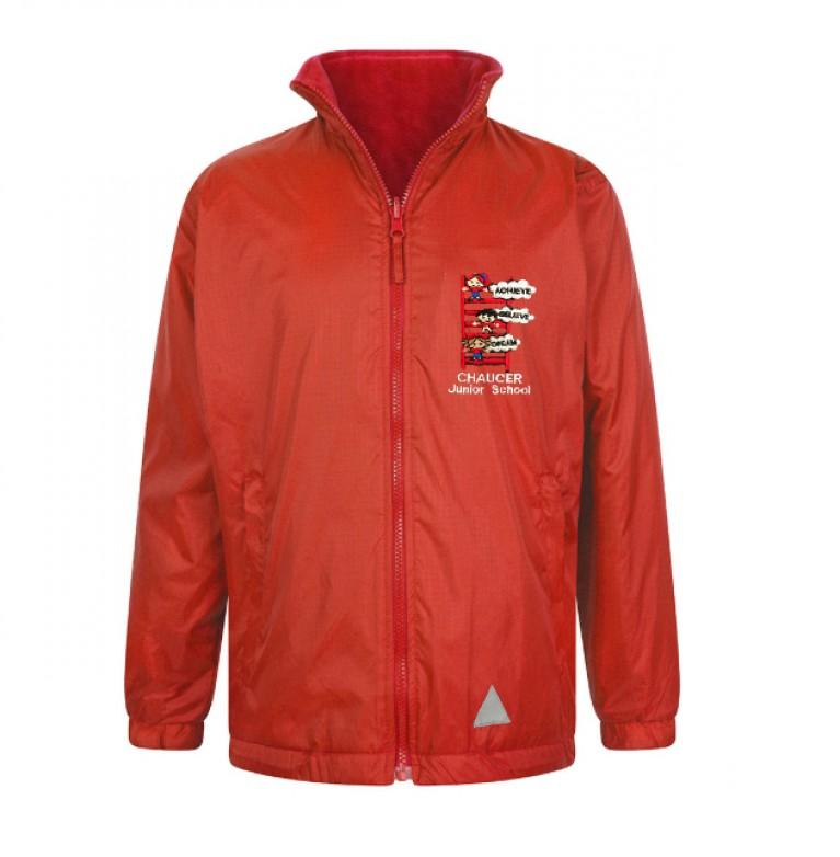 Red Reversible Showerproof Jacket