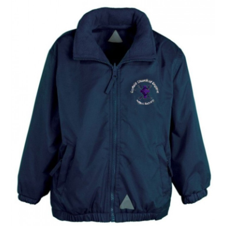 Navy Reversible Showerproof Jacket