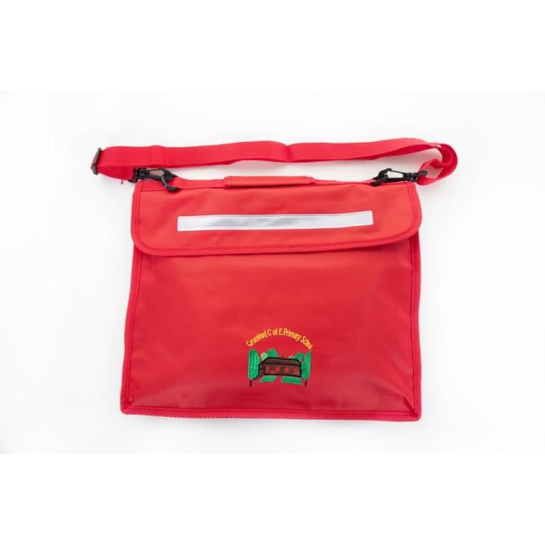 Red Long Handle Bookbag