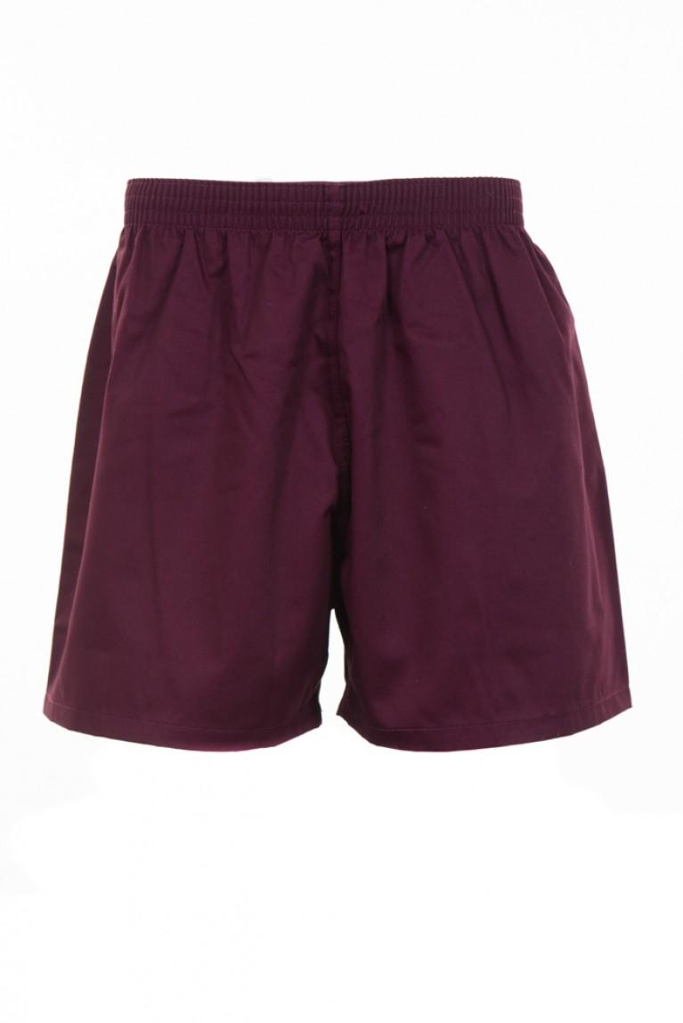 Boys Maroon Rugby Shorts