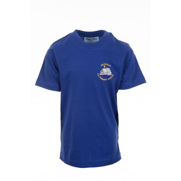 Royal P.E T-shirt - with logo