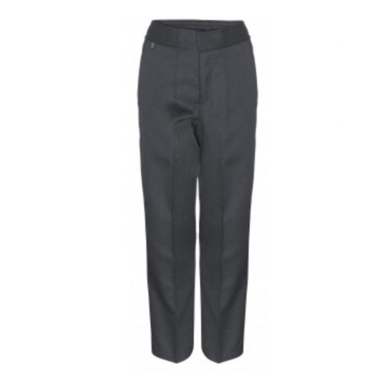 Junior Boys Grey Trousers  - Slim Fit