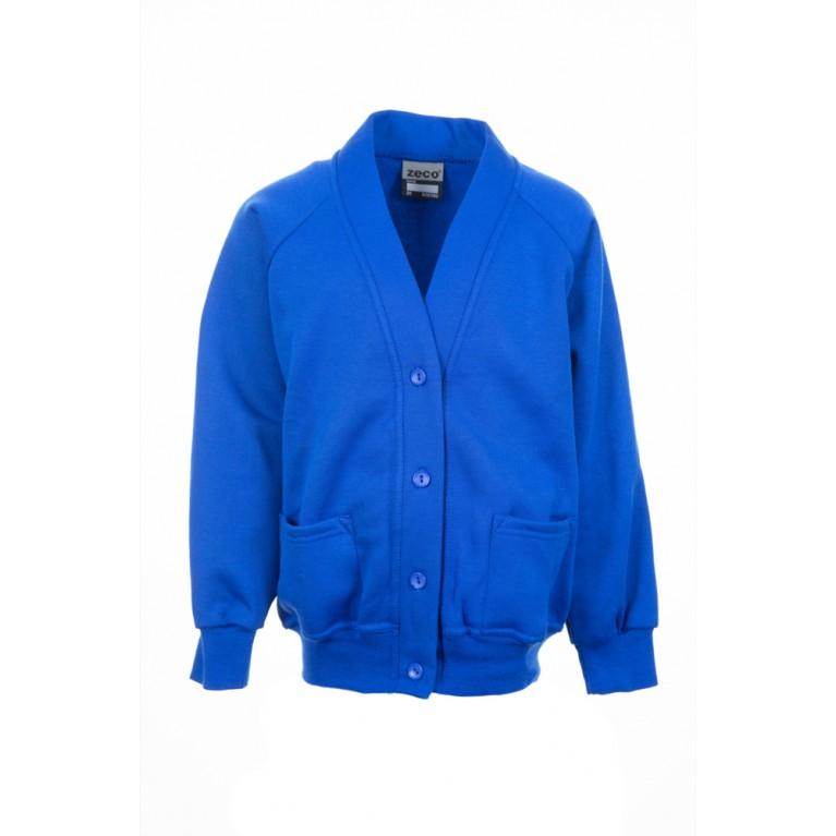 Plain Blue Cardigan