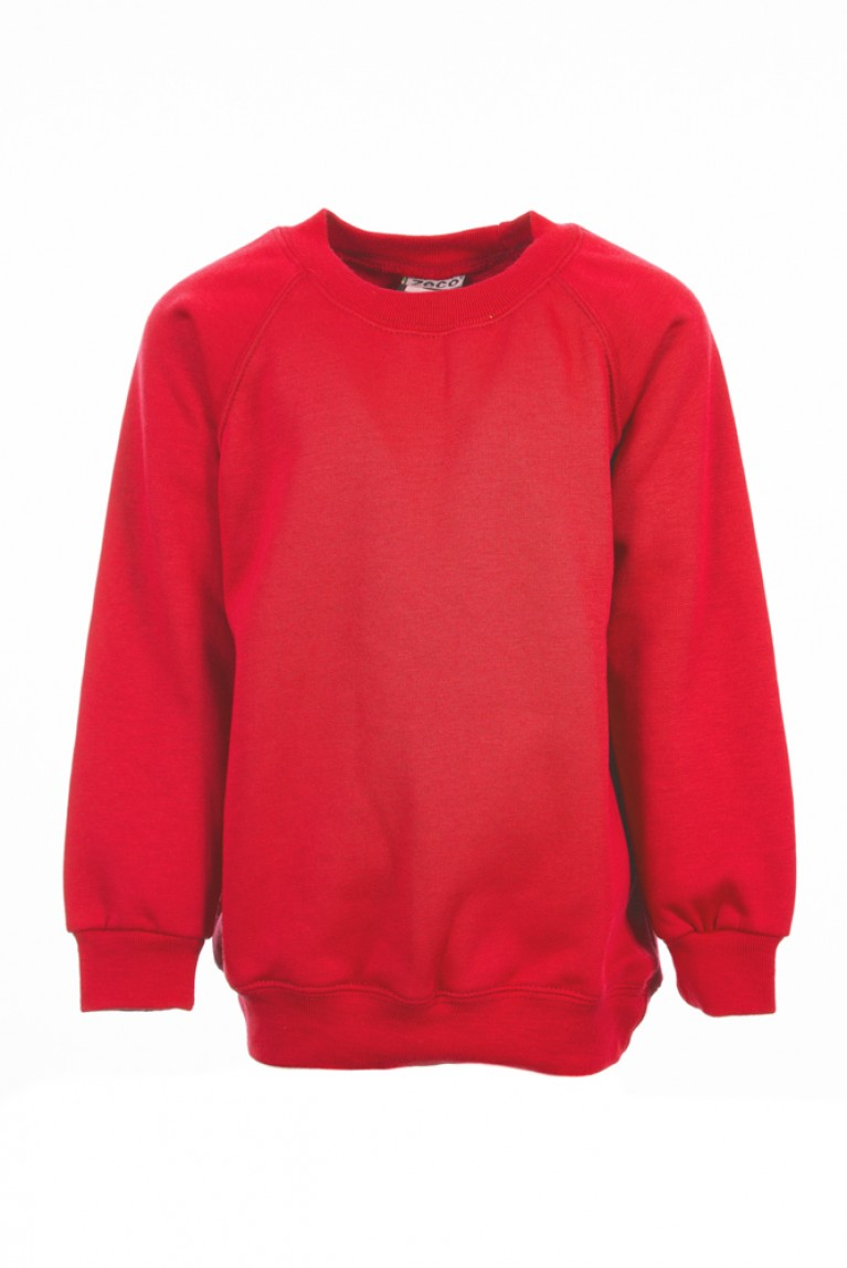 Plain Red Sweatshirt