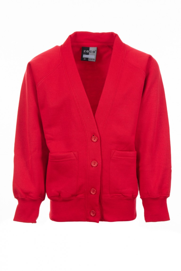 Plain Red Cardigan