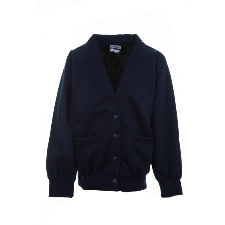 Plain Navy Cardigan