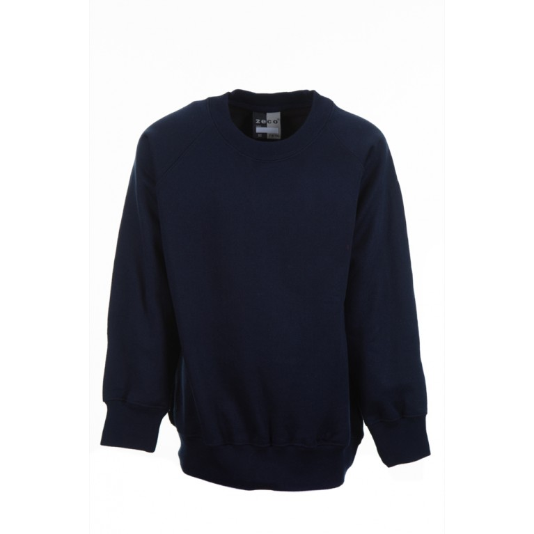 Zeco Plain Navy Sweatshirt