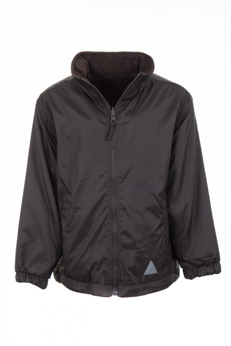Plain Brown Reversible Showerproof Jacket