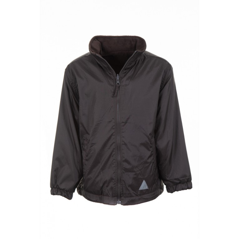 Plain Brown Reversible Showerproof Jacket