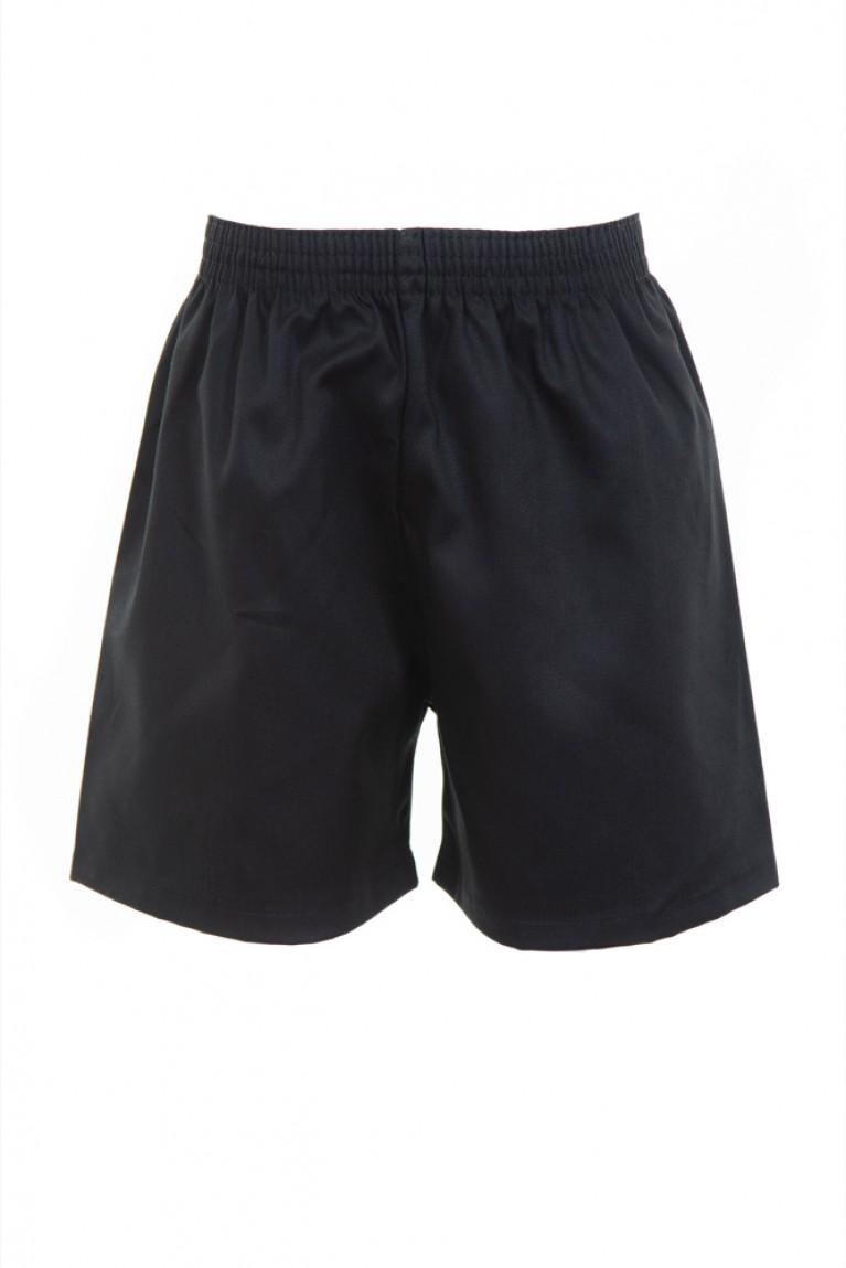 Black Cotton PE Shorts