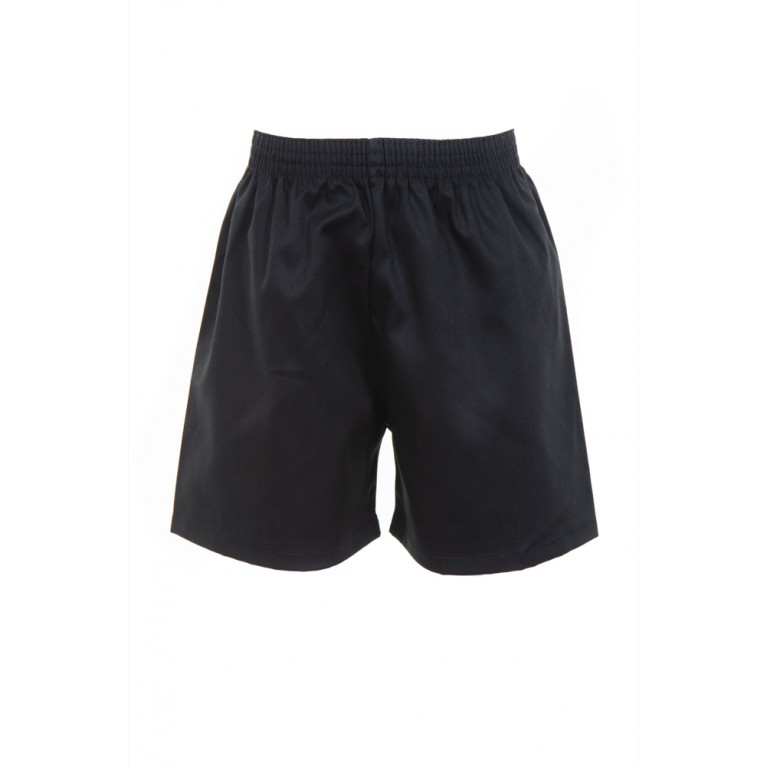 Black Cotton PE Shorts
