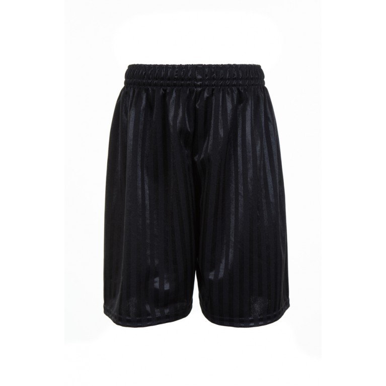 Black Shadow Striped Shorts