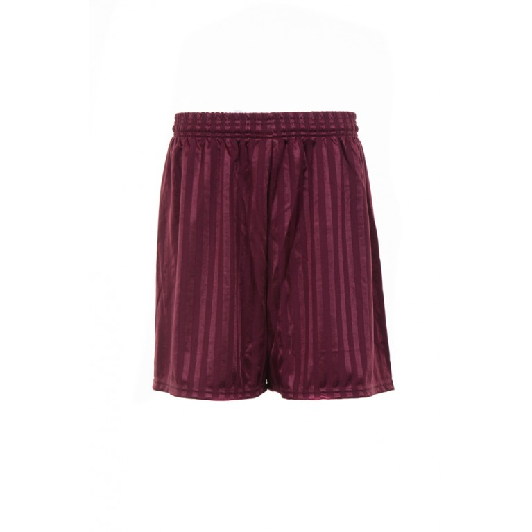 Boys Maroon Shadow Striped Shorts