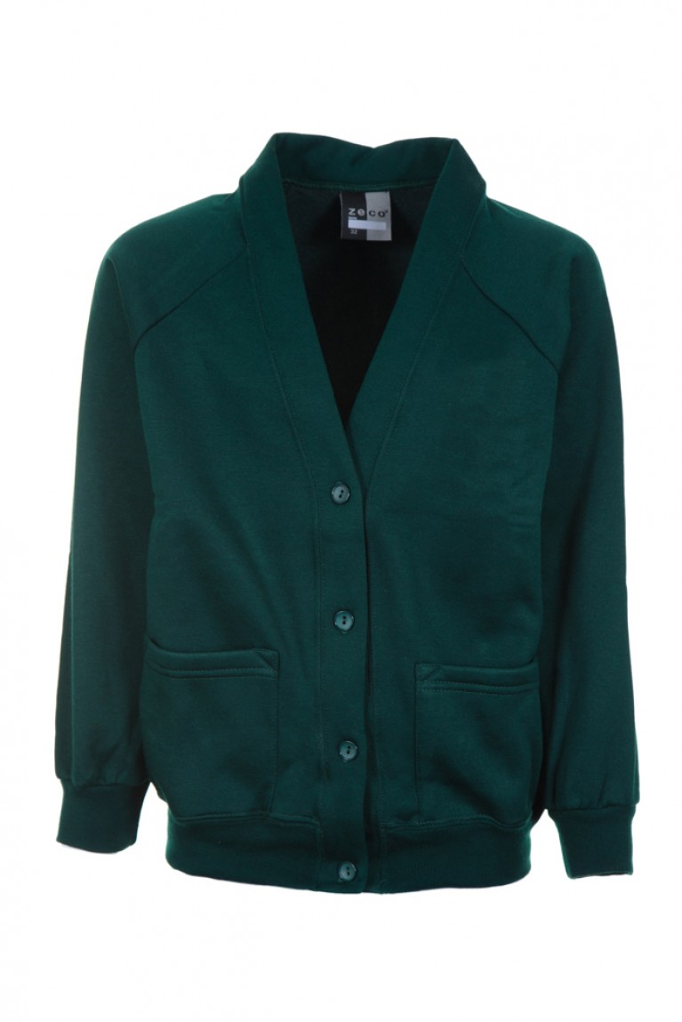 Plain Green Cardigan