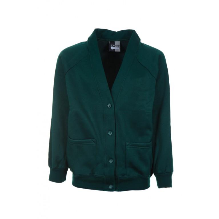 Plain Green Cardigan