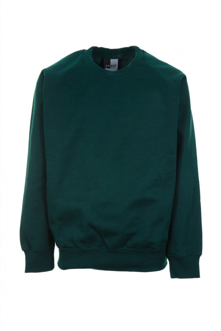 Zeco Plain Green Sweatshirt