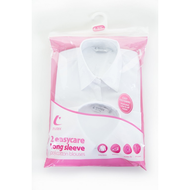 Trutex Easy Care Blouse - Long Sleeve (Twin Pack)