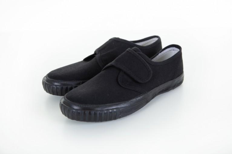 Black Velcro Plimsols