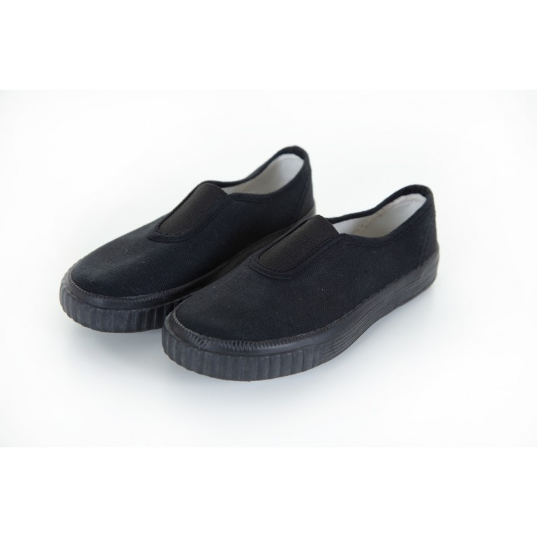 Black Pull on Plimsols