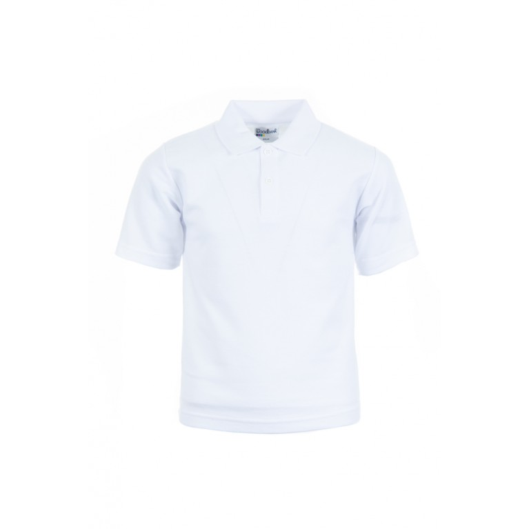 5x Woodbank Plain White Polo Shirt Bundle
