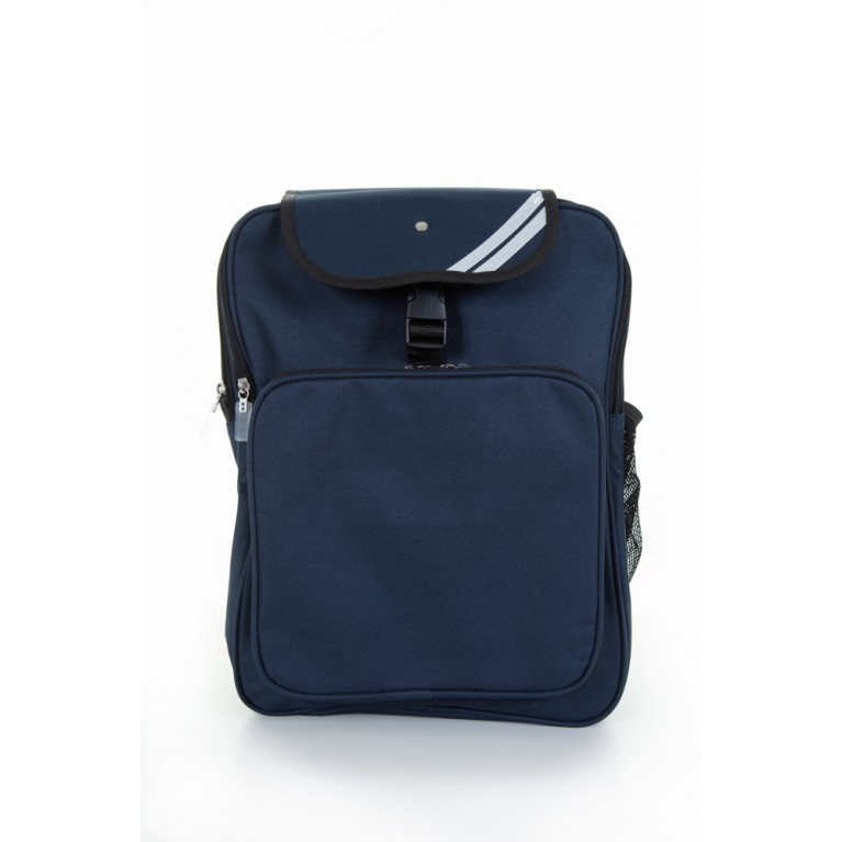 Navy School Approved School Plain Backpack